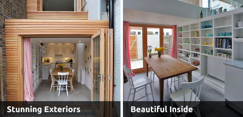 Stunning home extensions, beautiful construction